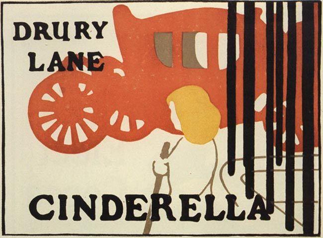 Los Beggarstaff Brothers (que no eran hermanos, sino cuñados) introdujeron un estilo que ejercería mucha influencia en el futuro, basado en la xilografía pero eliminando casi totalmente la línea de contorno cuando no era necesaria, creando imágenes de fuerte impacto. Cinderella, 1895