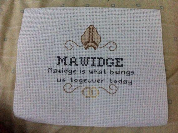 PRINCESS BRIDE CROSS STITCH!!! Mawidge Cross Stitch from Princess Bride by PatternsByIfy on Etsy, $1.00