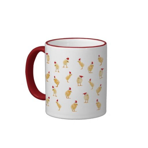 A Merry Christmas Chickens Mug - wake up to a happy chickens mug of coffee on Christmas morning!  Add your own text to make it even more special.