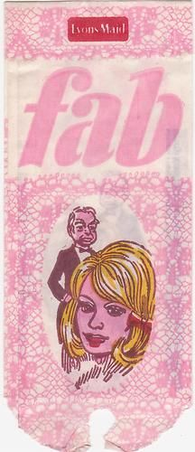Fab British Ice Lolly Wrapper featuring Lady Penelope and her butler Parker, 1960s