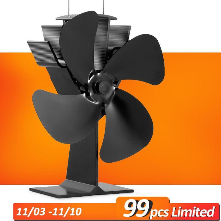 Heißer Verkauf Modell Förderung Weht Wärme Bis zu 300 f/m 4 Klingen Wärme Versorgt Holz Herd Fan Eco Herd Fan
