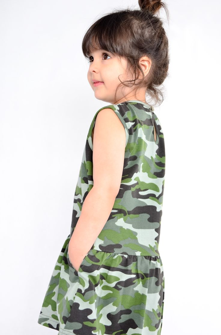 camo dress#little girl# kids fashion# WADERA