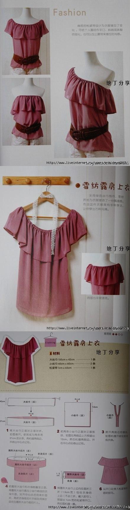 Простые выкройки блузок