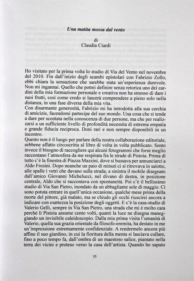 Il mio saggio autobiografico su #Pistoia - Una matita mossa dal vento - marzo 2017