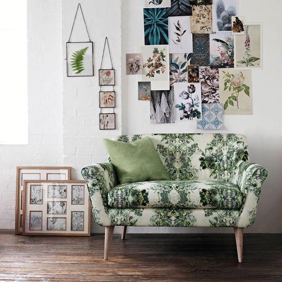 Floral print sofa trend