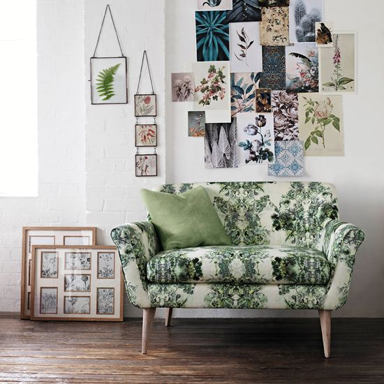 Floral print sofa trend for spring 2015
