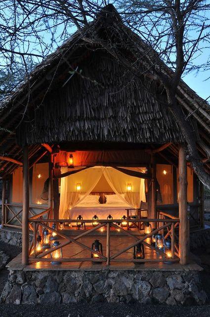 How cool would this be?! Severin Safari Camp - Tsavo West National Park, Kenya