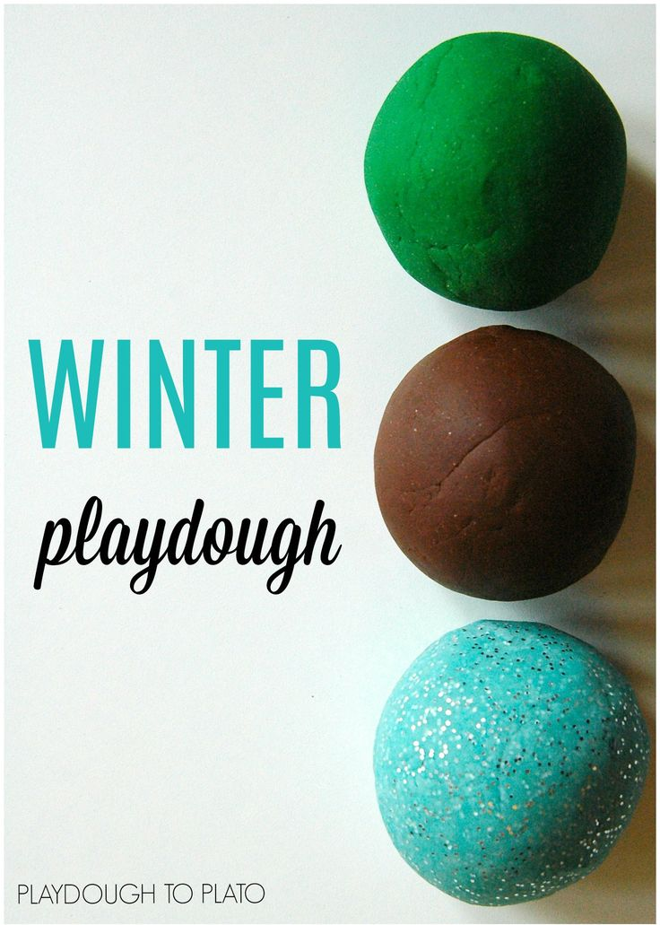 Yum!! Winter playdough recipes. Pine mint and hot chocolate.