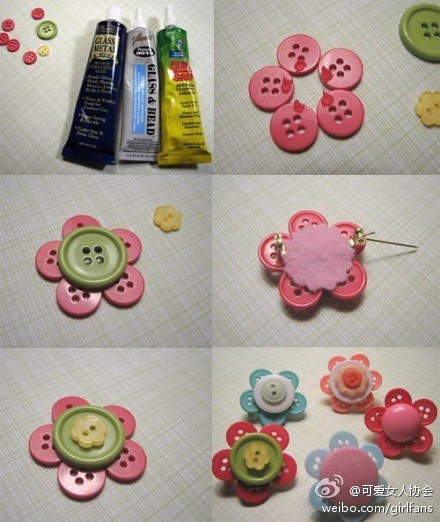 Button flowers - be great on anything, including scrapbooking/card making!