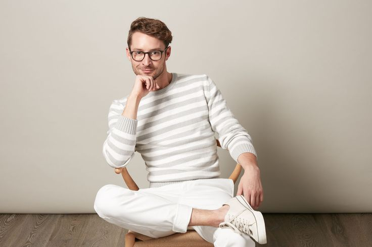 Introducing our Sorrento stripe crew. The subtle colours of grey and white combine to make a stylish piece. We love this back with a light coloured chino. It's spring style at its best.