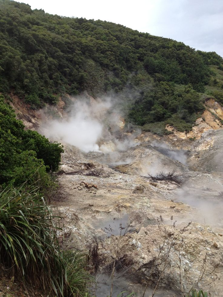 The Sulphur Springs in the La Soufriere Drive-In Volcano — in St.Lucia