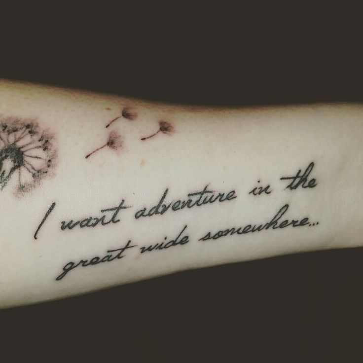 My first Disney tattoo. Quote from my favorite scene in Beauty and the Beast