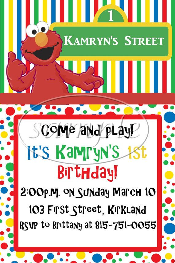 7 best Elmo Party images – Elmo Party Invitations Printable