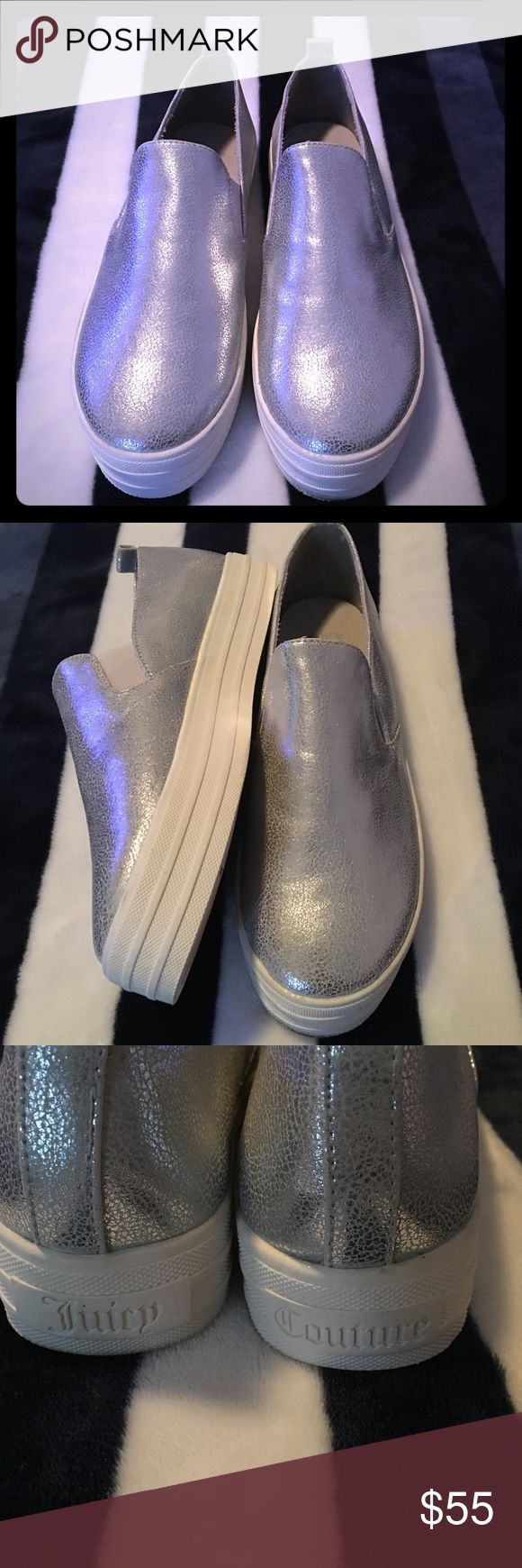 Juicy Couture Harbor Womens Size 6.5 Silver Juicy Couture Harbor Womens Size 6.5 Silver Loafers Shoes Juicy Couture Shoes Flats & Loafers