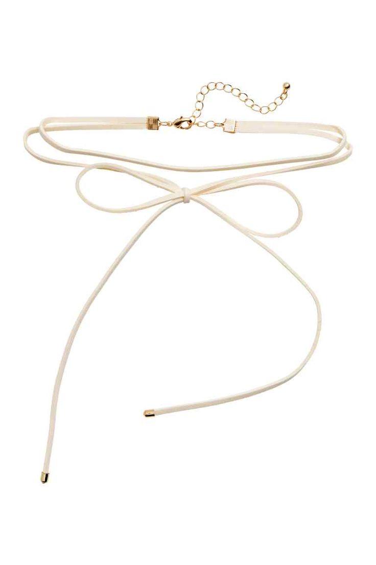 Ras-de-cou avec nœud - Blanc - FEMME | H&M FR 1