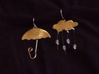 Τα κοσμήματα μου: Σκουλαρίκια-Ομπρέλα σύννεφο-Χειροποίητα Κοσμήματα