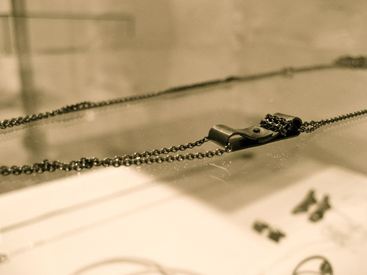 Necklace. Oxidized silver. By Karina Bach-Lauritsen