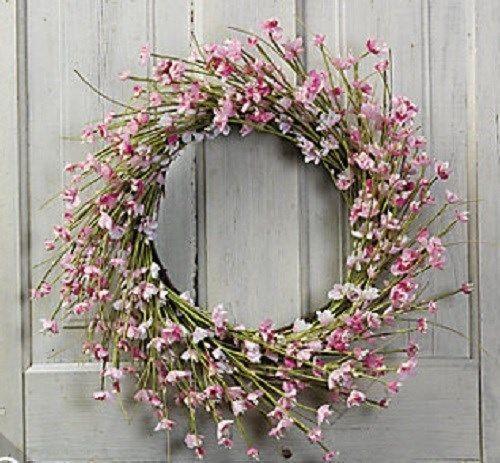 Cherry Blossom Grapevine Wreath Home Decor ***