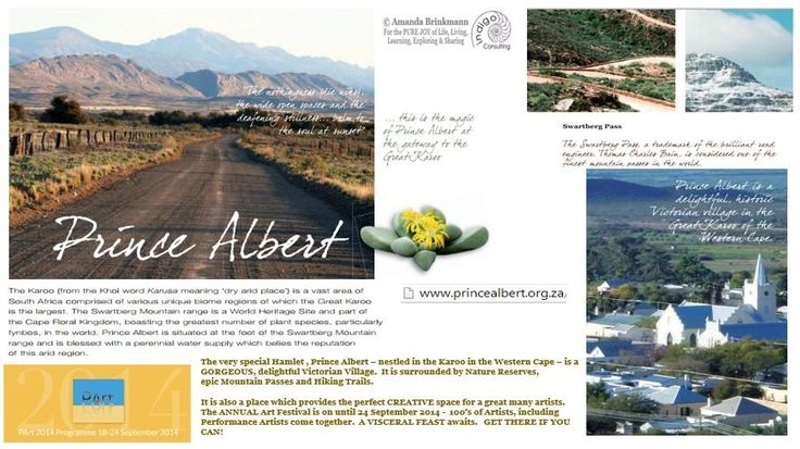 Prince Albert, Victorian Village in the Great Karoo, #SouthAfrica, HUGE Art Festival on. A VISCERAL FEAST! Get there!