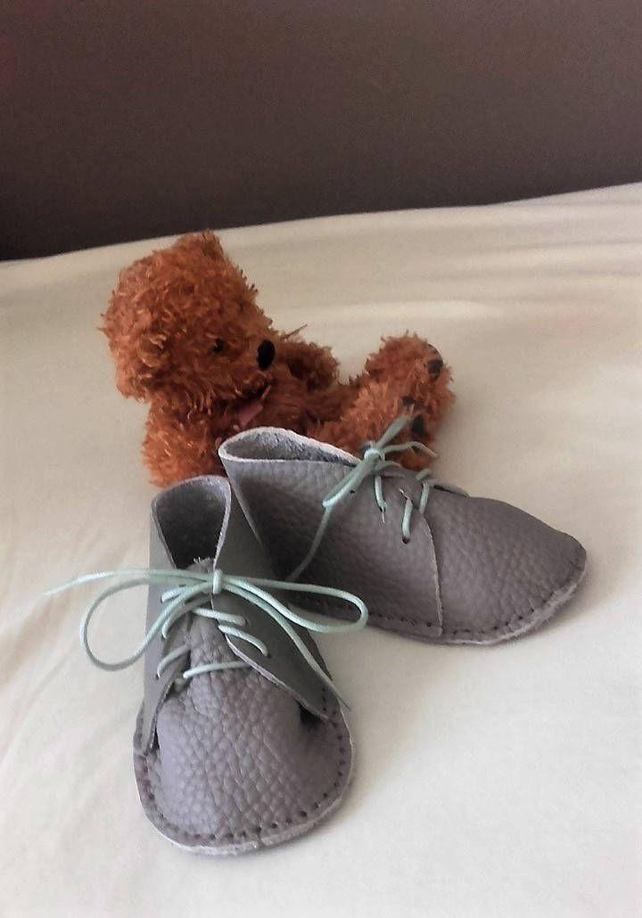 énorme réduction edfbb ca905 Chaussons souple en cuir pour bébé, coloris taupe, garçon ou ...