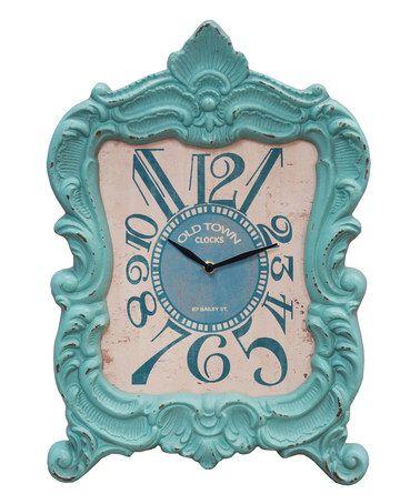 Look what I found on #zulily! Teal Mantel Clock #zulilyfinds