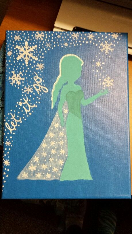 Elsa Frozen canvas