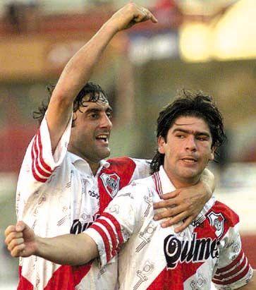 Enzo Francescoli y Marcelo Salas (River Plate 96)