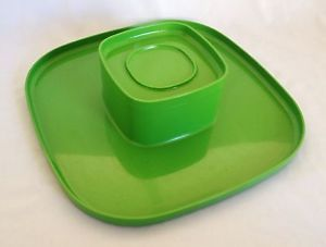 Vintage Retro C1970'S Green Bessemer Serving Platter With DIP Bowl Kartell ERA | eBay