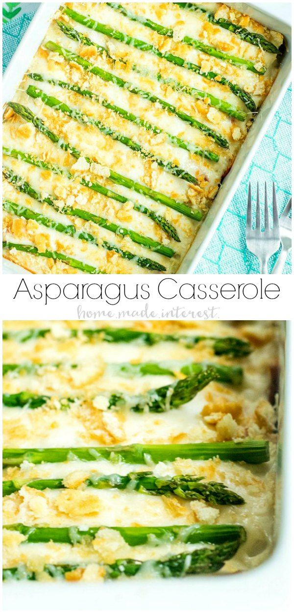 Asparagus Casserole | This easy Asparagus Casserole is a creamy, cheesy mix of eggs, cheese sauce, and fresh asparagus. It's a simple spring casserole that makes a delicious side dish for Easter dinner or a spring brunch. If you are looking for an asparagus recipe you're going to love this easy asparagus side dish! via @hmiblog