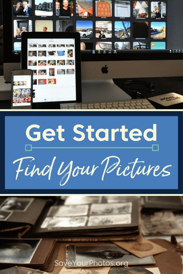 The first step of organizing your photos is to find them. Here is a list to get you started. #saveyourphotos photo organizing