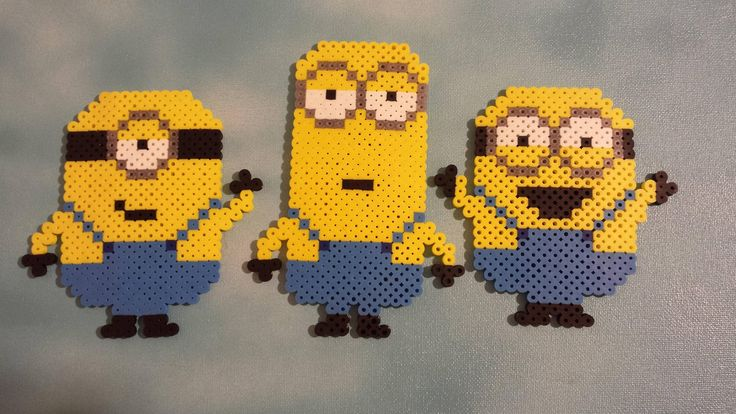 Minions perler bead original design by Derf314