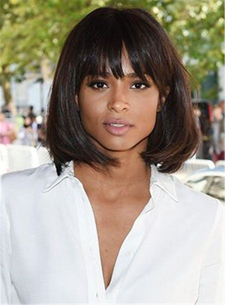 20 African American Bob Hairstyles with Bangs