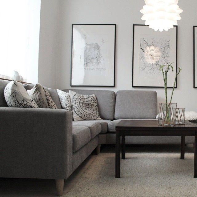 Sofa by Mio, prints by ILikeMaps