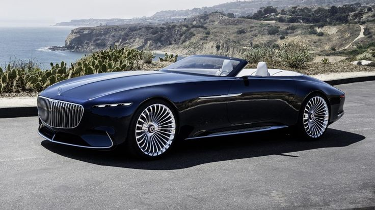 Be still my beating wallet. This is the Vision Mercedes-Maybach 6 Cabriolet revealed, appropriately, among the rich and beautiful at Monterey Car Week in California. On the face of it this is just a decapitated, repainted version of the obscene Vision Mercedes-Maybach 6 shown at Pebble Beach this time last year, but somehow it's so much more thanthat…