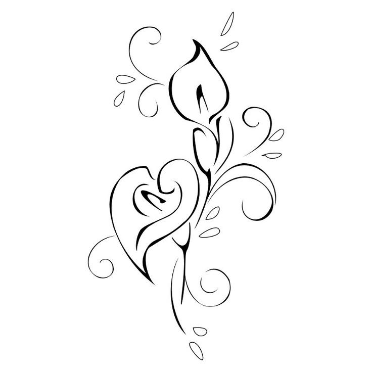 Cala lily tattoo design