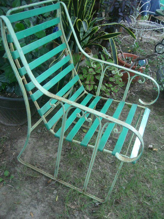 Clearance Antique Metal Outdoor Furniture Vintage Metal Patio Chair Outdoor Lawn Chair Metal Patio Chairs Clearance Patio Furniture Outdoor Lawn Chairs