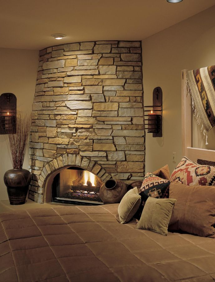 25 Stone Fireplace Ideas For A Cozy, Nature Inspired Home DesignRulz.com Design Inspirations