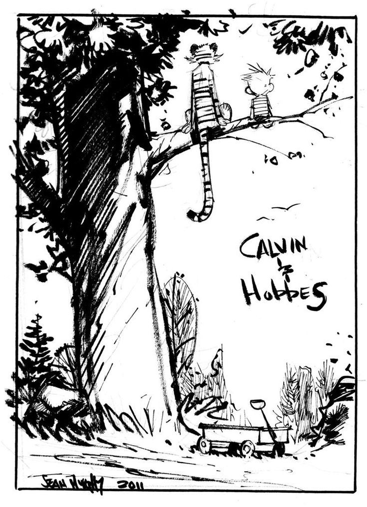 Calvin and Hobbes by *seangordonmurphy on deviantART