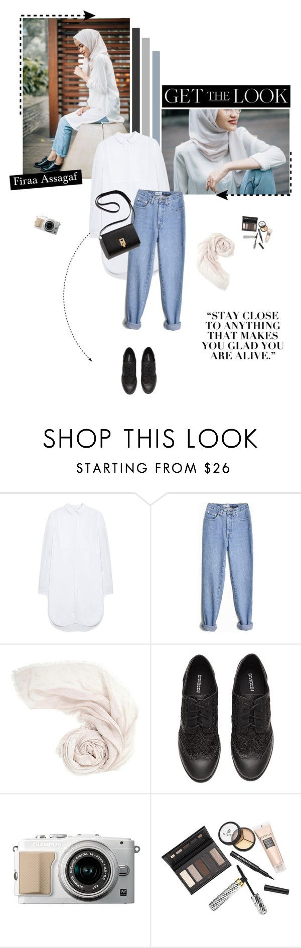 """""""Get the Look : Firaa Assagaf"""" by aisyh93 ❤ liked on Polyvore featuring Mulberry, H&M, Borghese and GetTheLook"""