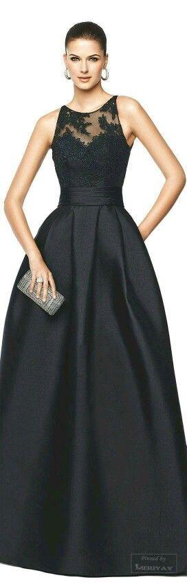 Vestido negro - dama