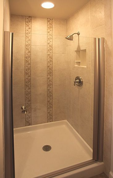 New shower tile design idea and frameless door New Small Bathroom Tile Designs Inspiration for Your Future Home