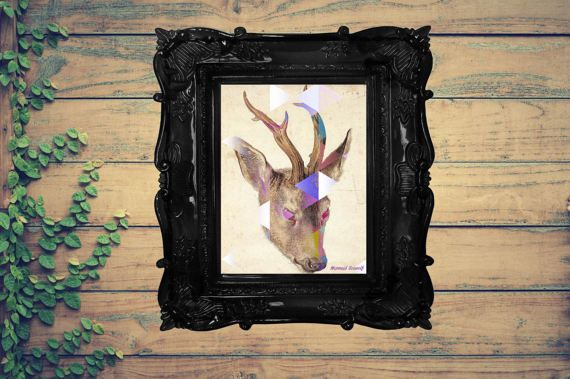 Hey, I found this really awesome Etsy listing at https://www.etsy.com/au/listing/504670686/geometric-deer-print-digital-download