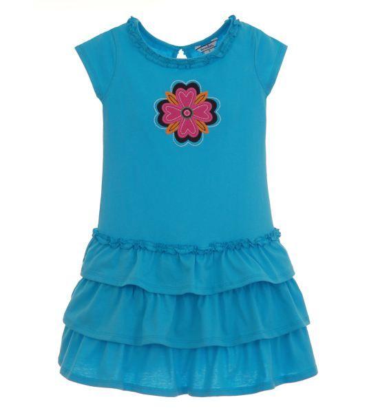 Cotton Knit Ruffle Dress