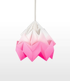 Pink Origami Lamp featured on, Ølive et Øriel :: Click the photo for more info.