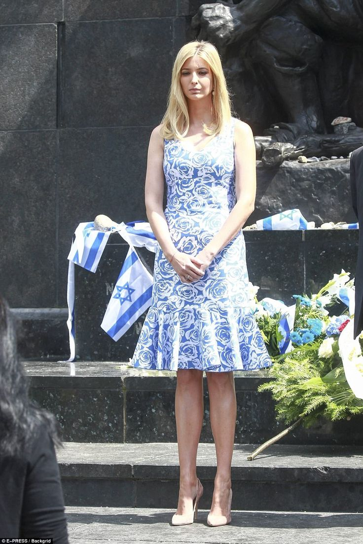 Ivanka Trump visited the Monument of the Warsaw Ghettos and the Museum of Polish Jews in Warsaw on Thursday