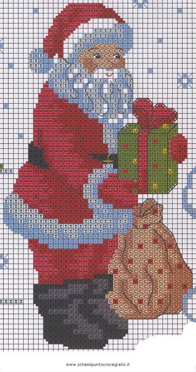 Oltre 25 fantastiche idee su babbo natale su pinterest for Immagini punto croce