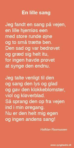 En skøn tekst af Halfdan Rasmussen