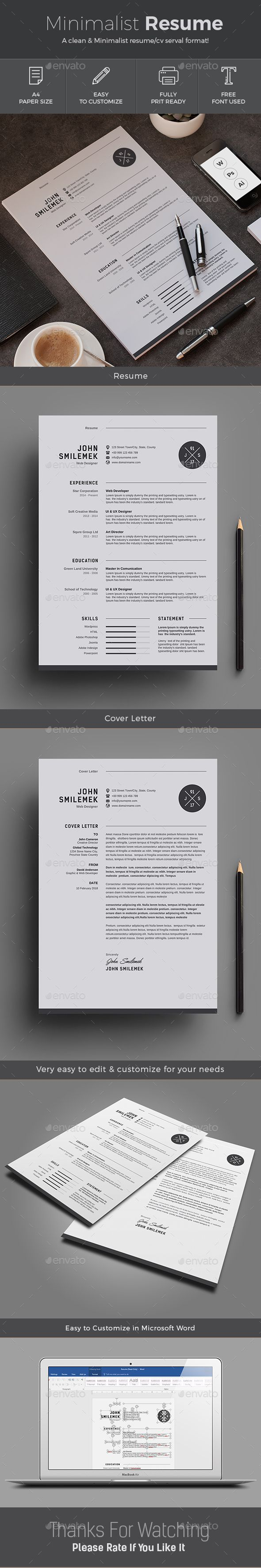 Clean minimalist and beautiful CV Resume