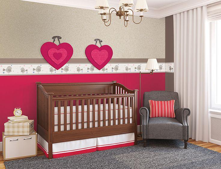 te invitamos a utilizar cenefas en el cuarto de tu beb para crear