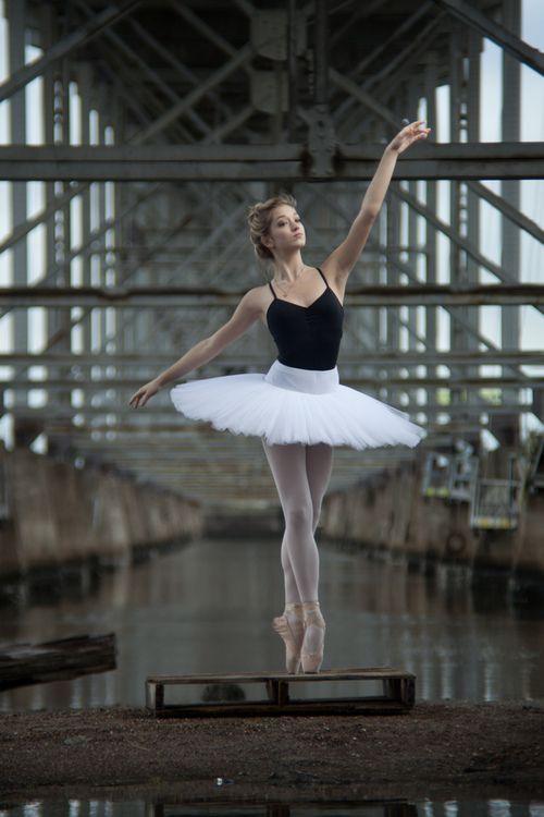 Ballet tights and leotard outdoor.